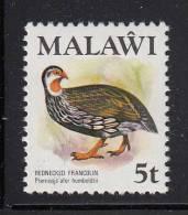 Malawi MNH Scott #236 5t Rednecked Francolin - Birds - Malawi (1964-...)