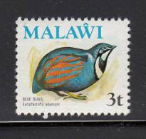 Malawi MNH Scott #235 3t Blue Quail - Birds - Malawi (1964-...)
