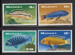 Malawi MH Scott #71-#74 Set Of 4 Fish Of Lake Malawi - Malawi (1964-...)