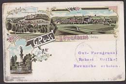 Löwenberg In Schlesien Litho Gruß Aus 1899 Lwówek ÅšlÄ…ski   Siegesdenkmal Als Drucksachenkarte - Schlesien