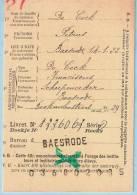 Lijfrentekaart, Afst. BAESRODE 22/04/1927 + Griffe (recto + Verso)  --  Baasrode - Langstempel