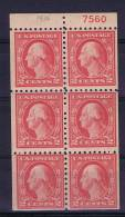 USA: Booklet Pane Sc 463A, MNH, With Plate Number - Boekjes