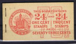 USA: Booklet BK 68 Sc  552 A 4x + 554C X 4  , MNH, Front Cover Along Staples Torn Almost Apart - Boekjes