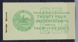 USA: Booklet  BK75  Sc  632A  2x. 1927  , MNH,  Fold In Cover - Boekjes