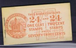 USA: Booklet  BK56 Combi  Sc  498AE + 499E  1917  , MNH, - Booklets