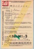 Lijfrentekaart, Afst. ST GILLIS (DENDERMONDE) 05/02/1937 + Griffe (recto + Verso)  -- Sint-Gillis-Dendermonde - Langstempel