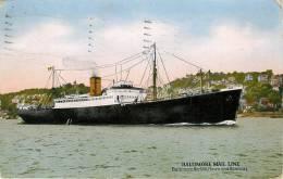 CPA Norfolk-Baltimore Mail Line-état Moyen Timbre Décolé Au Dos   L1283 - Norfolk