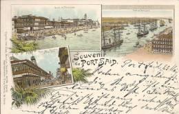 7122 - Souvenir De Port-Saïd En 1897 Litho - Port-Saïd