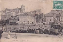 CPA-72-SARTHE- LE MANS -  Le Pont En X . Tramway Circulant - Le Mans