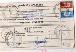 POSTE  ITALIANE-BOLLETTINO DI SPEDIZIONE-PACCO ORDINARIO-DITTA PIRANI MARIO-MONTEMARCIANO-ANCONA- - 6. 1946-.. Repubblica