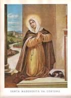 Grande Immagine: SANTA MARGHERITA DA CORTONA (cm. 31 X 22) - Godsdienst & Esoterisme