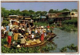 THAILANDE - CPM - BANGPA - 551 - Marché Sur L´eau - Floating Market - éditeur PHATANA LTD ? - Thaïlande