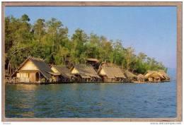 THAILANDE - CPM - KANCHANABURI PROVINCE - 844 - Maisons De Bambous Sur L´eau - Floating Houses Made Of Bamboos - Thaïlande