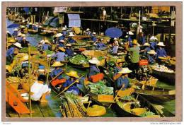 THAILANDE - CPM - DAMNONSADUAK , RAJBURI - Marché Sur L´eau - Floating Market - éditeur PHATANA LTD ? - Thaïlande