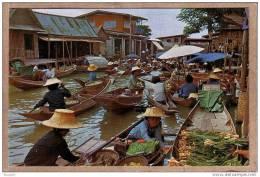 THAILANDE - CPM - WAD SAI , DHONBURI - 464 - Marché Sur L´eau - Floating Market - éditeur THAI SILPA - Thaïlande