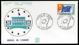 27508) Frankreich Europarat - Michel 15 - FDC - 1971 Europafahne - Briefe U. Dokumente