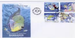 BARBADOS, 2006, WWF, LOCAL FDC, FISH, TRIGGERFISH, - W.W.F.