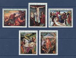 Congo - Brazzaville 1971 ( Easter - Paintings - By Paolo Veronese ... Etc.. ) - Complete Set - MNH (**) - Religión