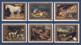 Congo - Brazzaville 1973 ( Paintings - Fauna - Animals - By Eugene Delacroix ) - Complete Set - MNH (**) - Chevaux