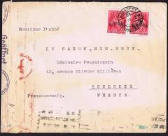 1941  Lettre De Budapest Pour Toulouse  Double Censure Allemande - Ungarn