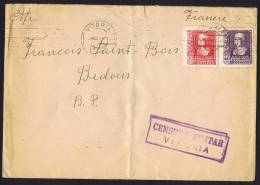 1939  Carta Da Vitoria  Per Francia   «Censura Militar / Vitoria» - 1931-50 Cartas