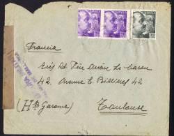 1939  Carta Da Palma De Mallorca  Per Francia   «Censura Militar / Palma De Mallorca» - 1931-50 Cartas