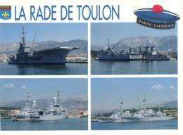 (526) Porte Avions A Toulon - Clémenceau Ou Foch ? + Autre Navire De Guerre - Warships