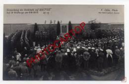 CIMETIERE Militaire Allemand-Ste WALBURGE-Tombes-Inauguration-Monument-CARTE PHOTO Allemande-Guerre 14-18-1WK-BELGIQUE-L - Liege