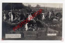 CIMETIERE Militaire Allemand-Env.BONCELLES-Texte-Tombes-CARTE PHOTO Allemande-Guerre 14-18-1WK-BELGIQUE-BELGIEN- - Seraing