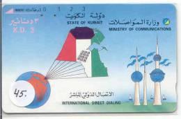 KUWAIT (45) TAMURA TELECARTE K.D. 3 - Koweït