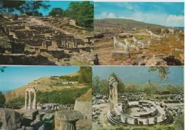 10 POSTCARDS : GREECE - Ruines , Ancient City's, Sculptures / GRÈCE : Ruines , Ancient Villes, Sculptures  - GRIEKENLAND - Postkaarten