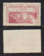 NANTES - 44 - LOIRE ATLANTIQUE / 1904 VIGNETTE EXPOSITION DE NANTES (ref T1443) - Erinnophilie