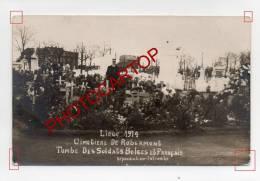 ROBERMONT-Cimetiere Militaire-Tombes Belges Et Francaises-CARTE PHOTO-Guerre 14-18-1WK-BELGIQUE-BELGIEN- - Liege