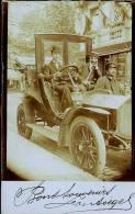 VOITURE 1907  CP PHOTO         CARTE TRES RARE            FAMILLE EVRARD - Voitures De Tourisme