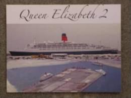 CUNARD QUEEN ELIZABETH 2 (QE2) AT PORT RASHID, DUBAI - Dampfer