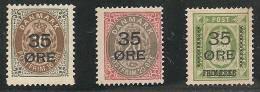DINAMARCA 1912 - Yvert #62/64 - (*) Mint No Gum - 1905-12 (Frederik VIII)
