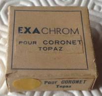 Filtre Exachrom Jaune Pour Coronet Topaz Avec Boite D'origine - Lentes