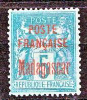 MADAGASCAR  TYPE surcharge N� 14   NEUF TB