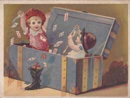 A2A Z16 ANCIENNE IMAGE CHROMO CHROMOS PUB BEAU VISUEL ENFANT CARTE A JOUER JEU DE CARTE TOP VISUEL OR DORURE - Unclassified