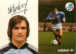 Football - Henri MICHEL- Equipe De France Mondial 1978 - CP Adidas & FFF -Portrait + En Jeu + Signature + Curiculum -TTB - Calcio