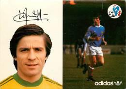 Football -Loïc AMISSE - Equipe De France Mondial 1978 - CP Adidas & FFF -Portrait + En Jeu + Signature + Curiculum -TTB - Calcio