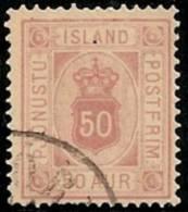 ISLANDIA 1876/901 - Yvert #9 (Servicio) - VFU - 1873-1918 Dependencia Danesa