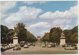 Paris:RENAULT CARAVELLE,SIMCA ARONDE, PANHARD DYNA CABRIOLET & PL17,OLDTIMER VOITURES - Champs Elysées - Auto/Car-France - Turismo