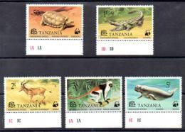Tanzanie 1977, W.W.F., Faune En Danger, 80 / 84**, - W.W.F.