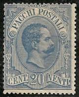 ITALIA 1884/86 - Yvert #2 (Paquetes Postales) - Mint No Gum (*) - 1878-00 Humbert I.