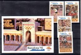Antigua 1990, Jeux Olympiques De Barcelone, 1273 / 1276** + Bf 182** - Summer 1992: Barcelona