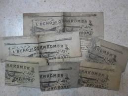 88, GERARDMER - LOT De 7 ANCIENS JOURNAUX, ECHO DE GERARDMER, 1936 / 1940 - Lorraine - Vosges