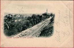 SCHLOSS TERSATTO MIT KIRCHE - FIUME ( Croatia ) *  Travelled 1898 ? * Trsat - Rijeka *  Stengel & Co. Dresden - Croatia