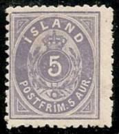 ISLANDIA 1876 - Yvert #6b - MLH * (Dentado 12 1/2) - 1873-1918 Dependencia Danesa