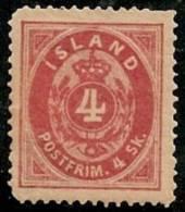 ISLANDIA 1873 - Yvert #3a - MLH * (Dentado 14) - Neufs